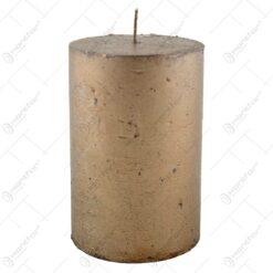 Lumanare in forma cilindrica culoarea bronzului 10 CM