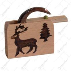 """Jucarie """"Cutie cu sarpe"""" realizata din lemn - Design Clasic"""