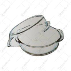 Vas termorezistent oval cu capac-2 L/BORCAM