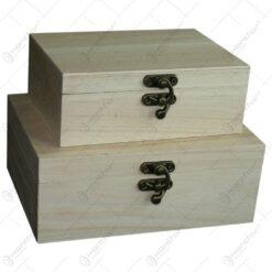 Set 2 cutii pentru depozitare realizate din lemn - Hobby