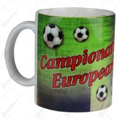 Cana ceramica cu grafica si poze - Campionatul European