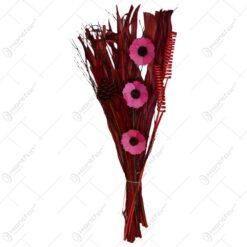 Buchet realizat din flori si plante uscate - Diverse culori (Model 2)