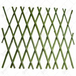 Panou decorativ realizat din bambus - Verde