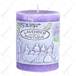 Lumanare parfumata in forma cilindrica - Design Lavender Boutique (Model 1)