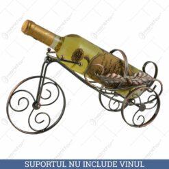 Suport pentru sticla de vin realizat din metal - Design cu frunze (Model 2)