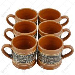 Canita dreapta pentru tuica din ceramica