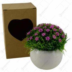 Floare artificiala - Floare heliotrop/Trandafiri pitici - Diverse culori