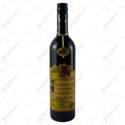 "Vin rosu 0.75l cu eticheta personalizata din pluta - Design ""La multi ani..."" (Model 2)"