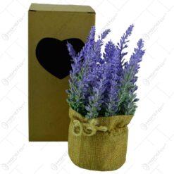 Floare artificiala in ghiveci - Lavanda - Diverse culori