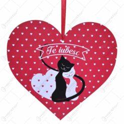 Decoratiune cu agatatoare in forma de inimioara - Diverse modele cu mesaje de dragoste