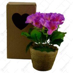 Floare artificiala in ghiveci - Nalba - Diverse culori