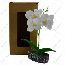 Floare artificiala in ghiveci - Orhidee - Diverse culori