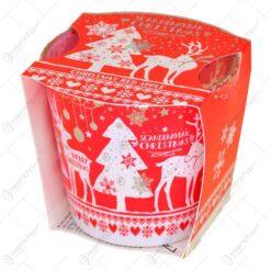Lumanare parfumata de Craciun in pahar - Design Scandinavian - Happy Christmas & Happy New Year