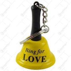 """Breloc cu clopotel - Design cu mesajul """"Ring for love"""" - Diverse modele"""