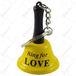 "Breloc cu clopotel - Design cu mesajul ""Ring for sex/Ring for love"" - Diverse modele"