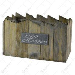"""Ghiveci realizat din lemn pentru flori - Design cu inscriptia """"Home"""" - 2 modele"""
