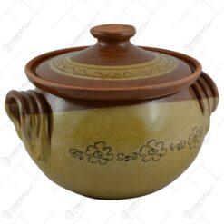 Oala pentru sarmale cu capac realizata din ceramica - 2 modele (Model 4)