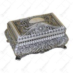 Caseta bijuterii din metal cu capac si cu picioare - Elegant Metal