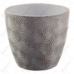 Ghiveci realizat din ceramica - Design cu forme in relief - Diverse modele (Model 3)