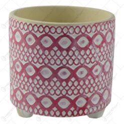 Ghiveci realizat din ceramica - Design cu forme in relief - Diverse modele (Model 4)