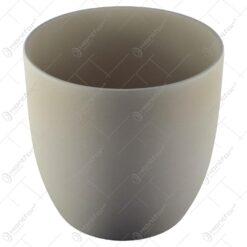 Ghiveci realizat din ceramica - Alb (Model 1)