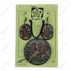 Set cercei cu colier realizate manual din ceramica - Diferite modele