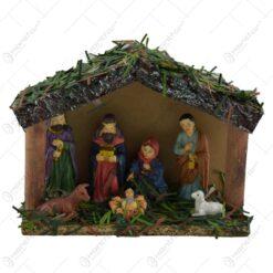 Decoratiune Betleem realizata din lemn si plastic - Diverse modele