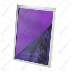 Tablou cu nisip miscator in rama de metal - Diferite culori