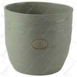 Ghiveci realizat din ceramica - Gri