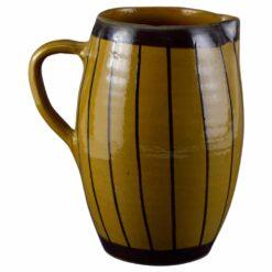 Cana realizata din ceramica pentru servire - Design traditional cu dungi