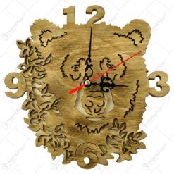 Ceas realizat din lemn pentru perete - Diverse modele