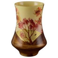Vaza realizata din sticla - Desgin cu peisaj de toamna (Model 5)