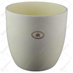 Ghiveci realizat din ceramica - Crem (Model 2)