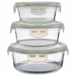 Set 3 cutii cu capac pentru bucatarie (Model 1)