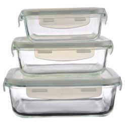 Set 3 cutii cu capac pentru bucatarie (Model 2)