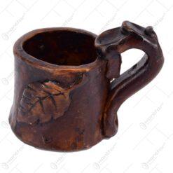 Cana realizata manual din ceramica - Design Rustic