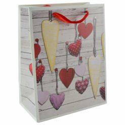 Punga pentru cadouri - Design cu inimioare