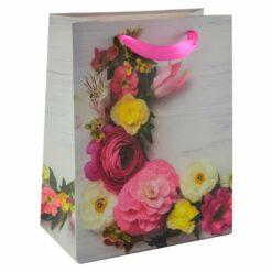 Punga pentru cadouri - Design cu flori (Model 1)