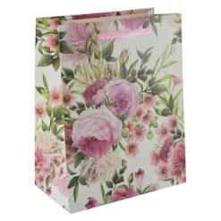 Punga pentru cadouri - Design cu flori (Model 2)