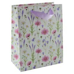 Punga pentru cadouri - Design cu flori (Model 3)