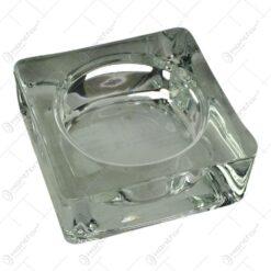 Candela realizata din sticla in forma de cub (Model 1)