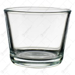 Candela rotunda realizata din sticla (Model 2)