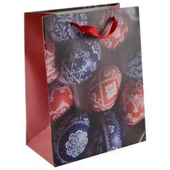 Punga pentru cadouri - Design cu oua colorate (Model 1)