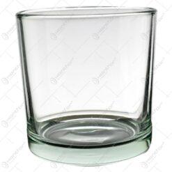 Candela cilindrica realizata din sticla