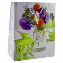 Punga pentru cadouri - Design cu flori (Model 4)