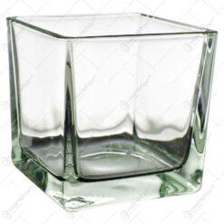 Candela realizata din sticla in forma de cub (Model 3)