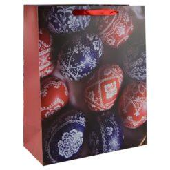 Punga pentru cadouri - Design cu oua colorate (Model 2)