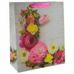 Punga pentru cadouri - Design cu flori (Model 6)