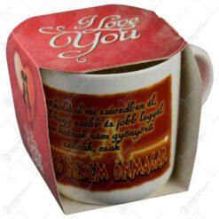 Cana ceramica cu grafica si inscriptionata - Te iubesc