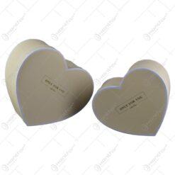 Set 2 cutii cadou in forma de inima - Design cu mesajul